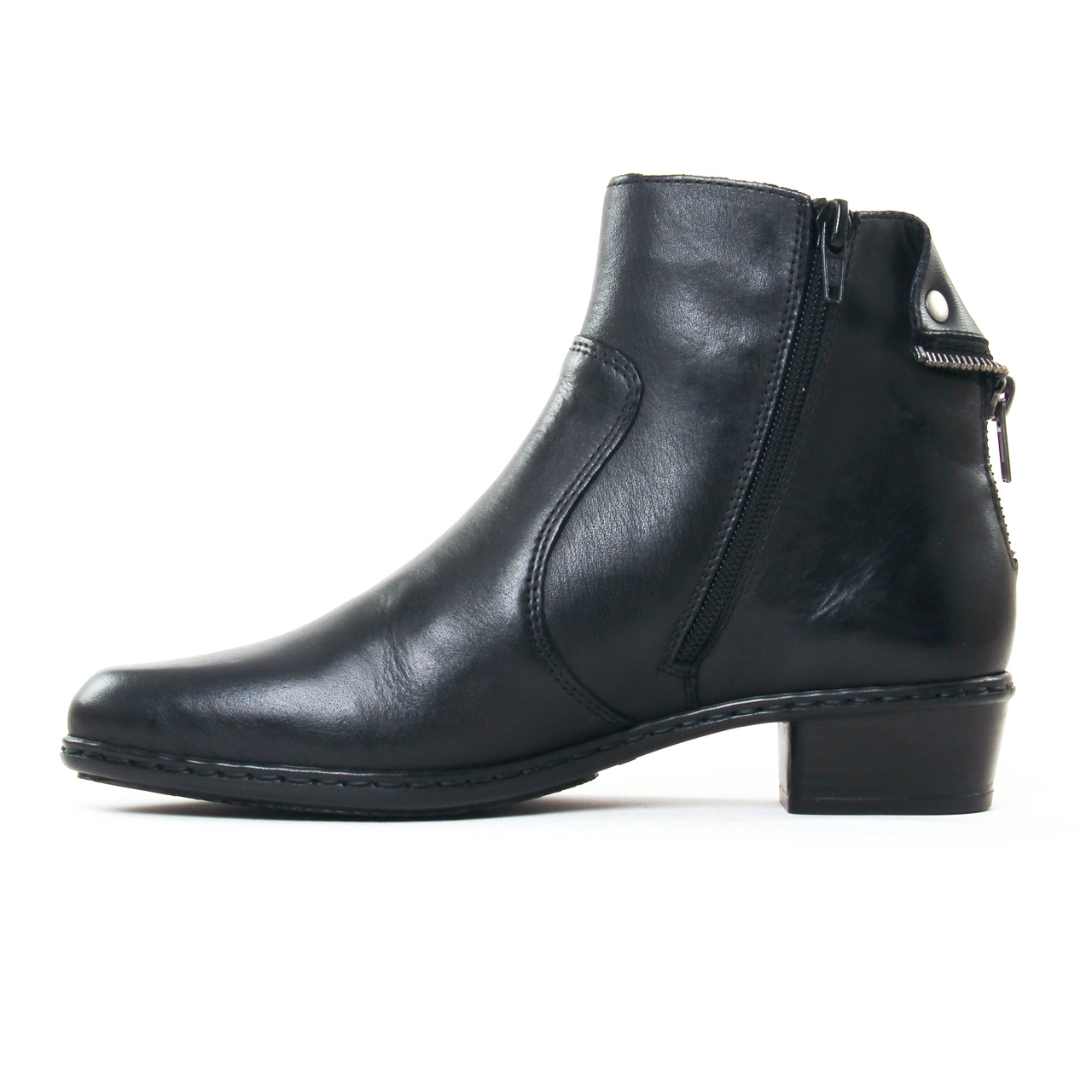 Rieker Y773 Noir | boots noir automne hiver chez TROIS PAR 3