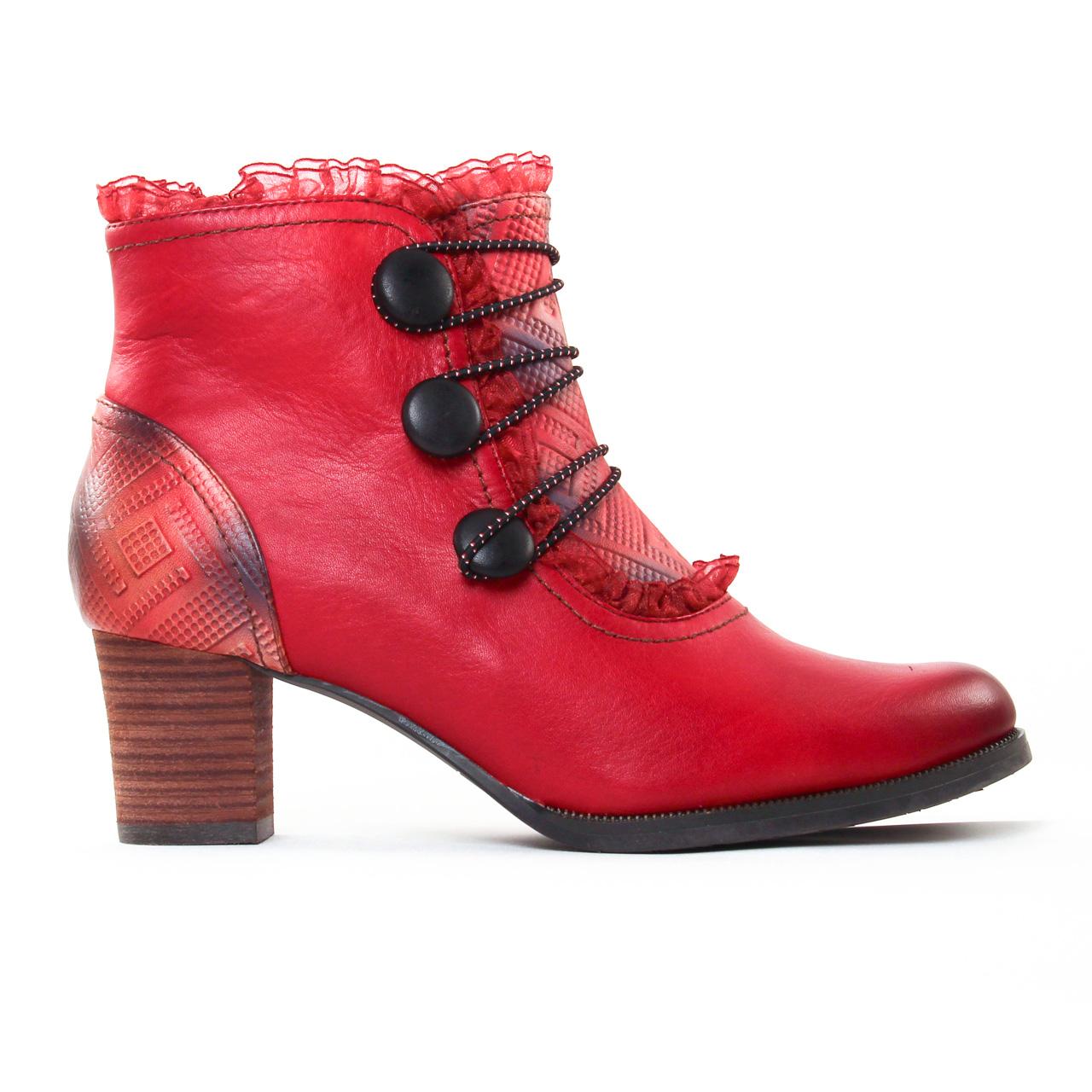 laura vita amelia rouge | boots rouge automne hiver 2017 chez