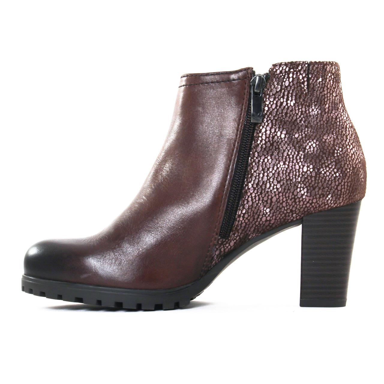 Caprice Boots talon Marron Marron - Chaussures Bottine Femme