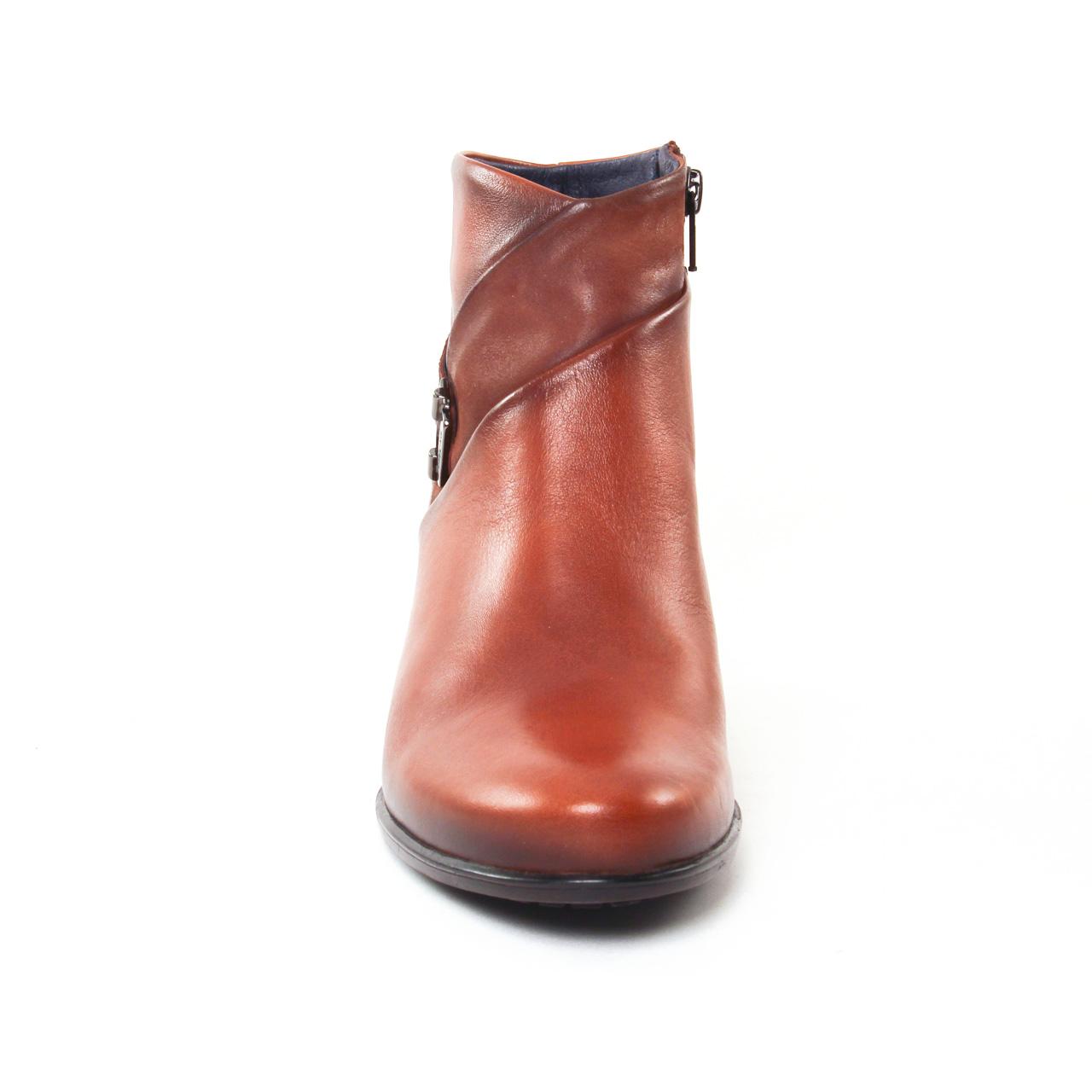 dorking brisda 7261 cuero | boot talon marron automne hiver 2017