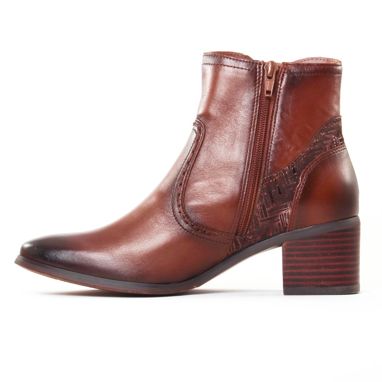 fugitive laino nappa gold | boot talon marron automne hiver 2017