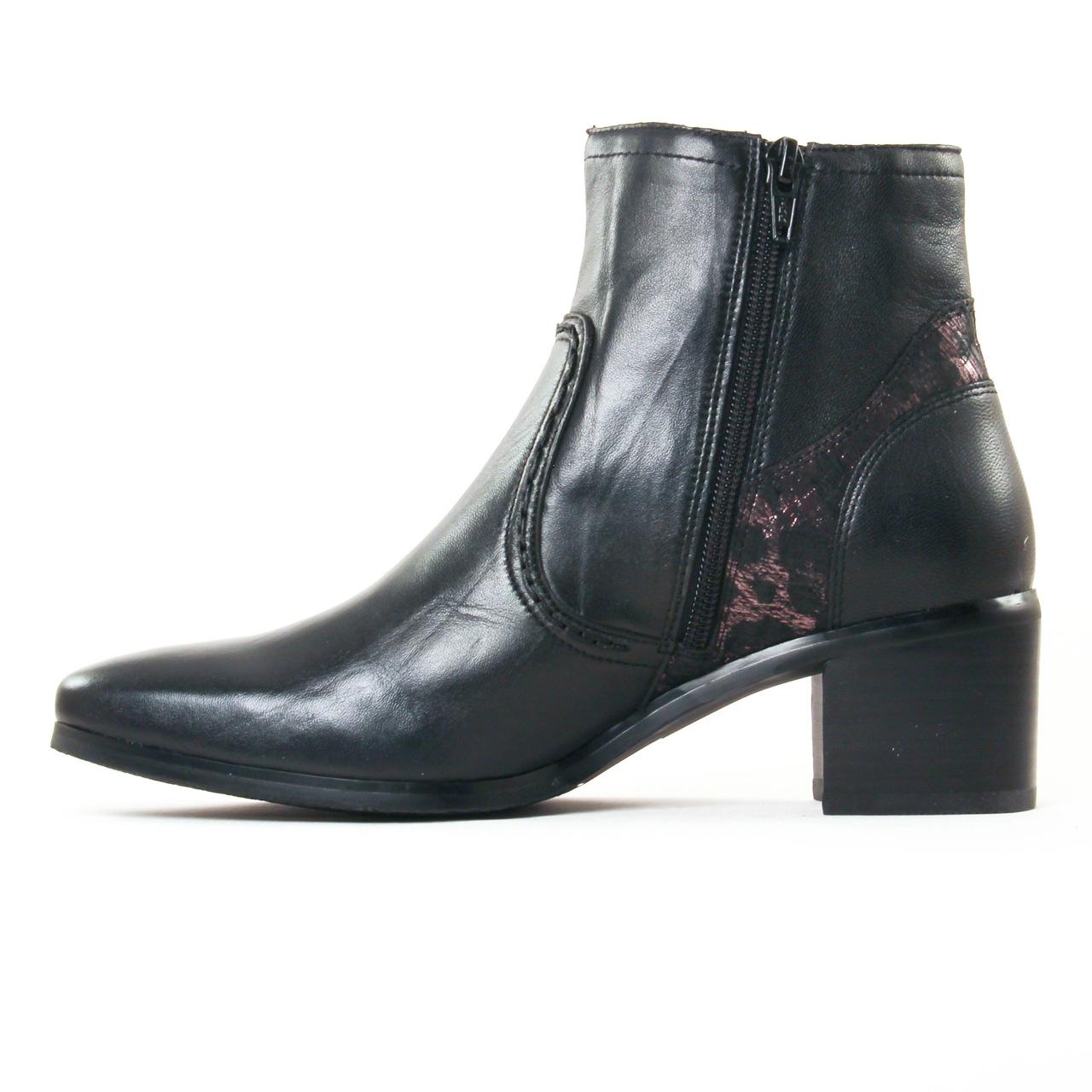 fugitive laino nappa noir | boot talon noir automne hiver 2017