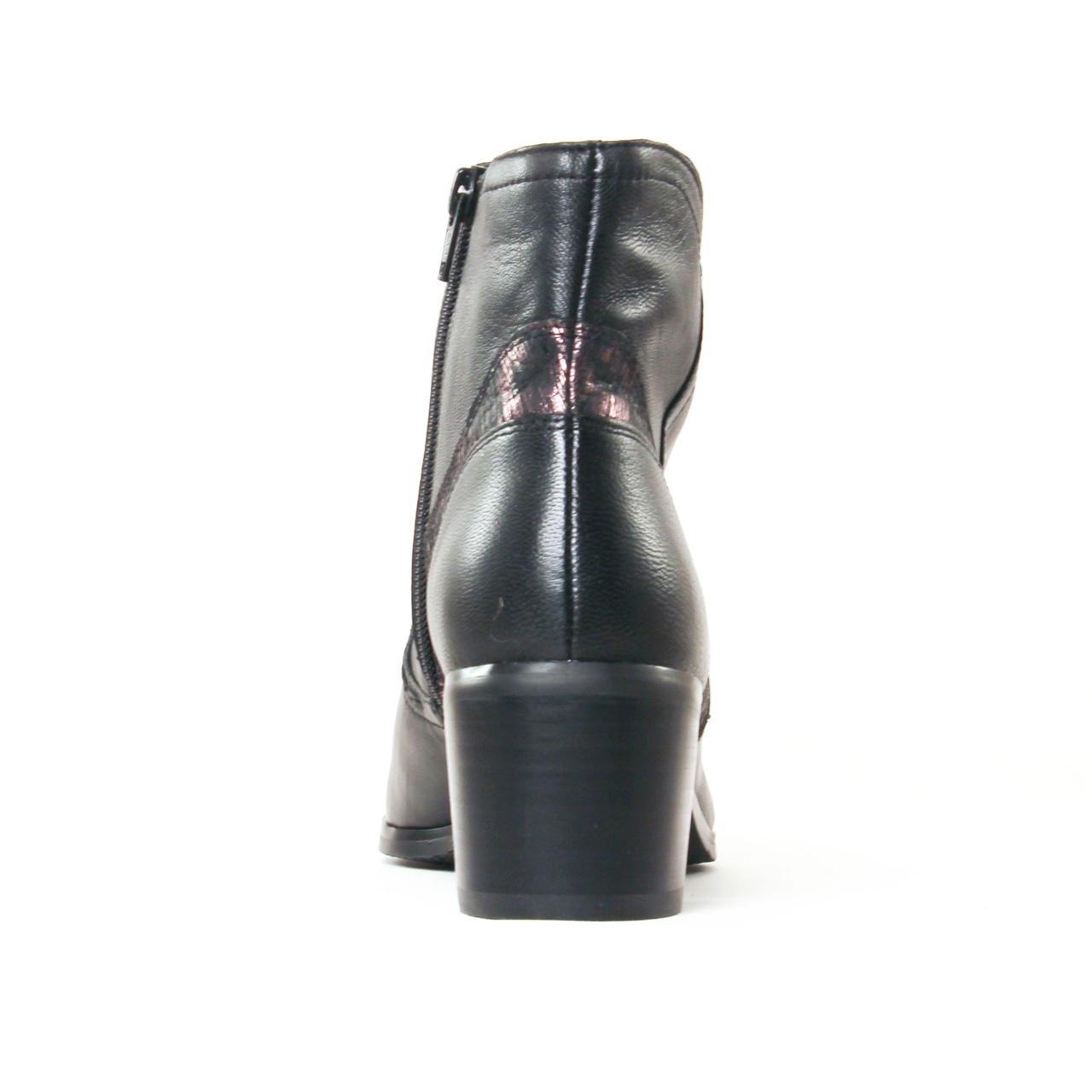 fugitive laino nappa noir   boot talon noir automne hiver 2017