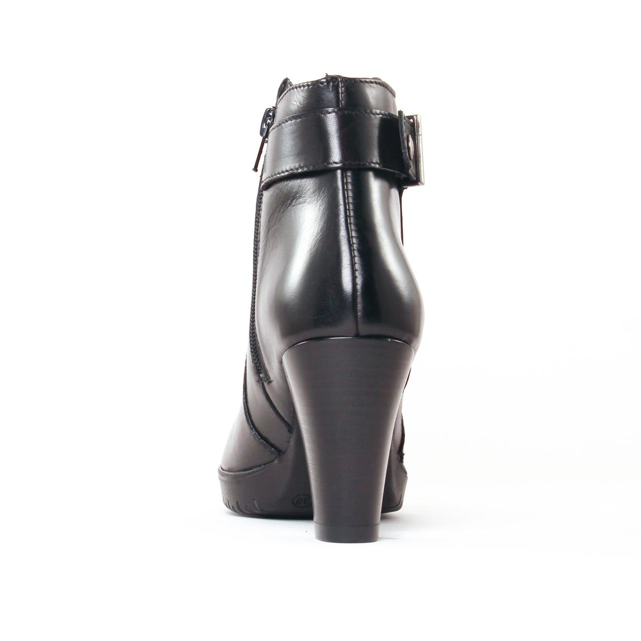 tamaris 25051 black   boot talon noir automne hiver 2017 chez