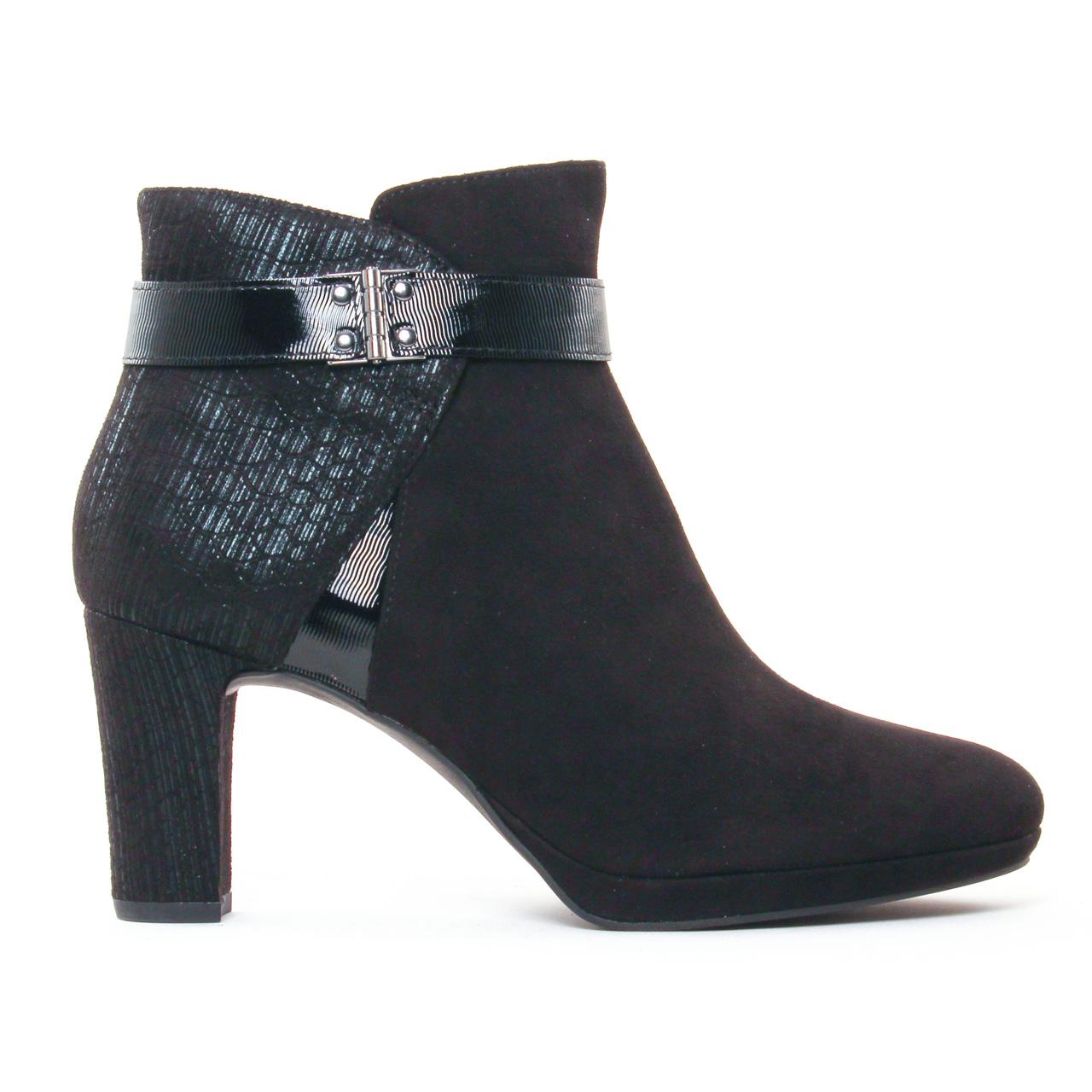 tamaris 25370 black boot talon noir automne hiver chez. Black Bedroom Furniture Sets. Home Design Ideas