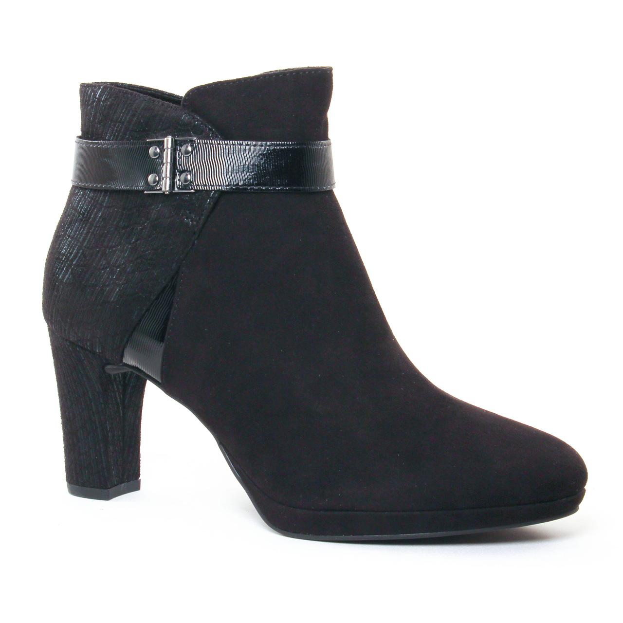 tamaris 25370 black | boot talon noir automne hiver 2017 chez