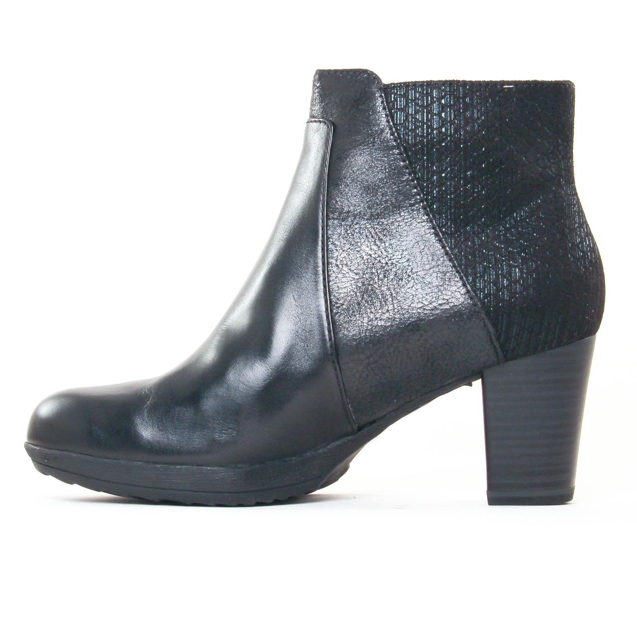 tamaris 25380 black boot talon noir automne hiver chez trois par 3. Black Bedroom Furniture Sets. Home Design Ideas