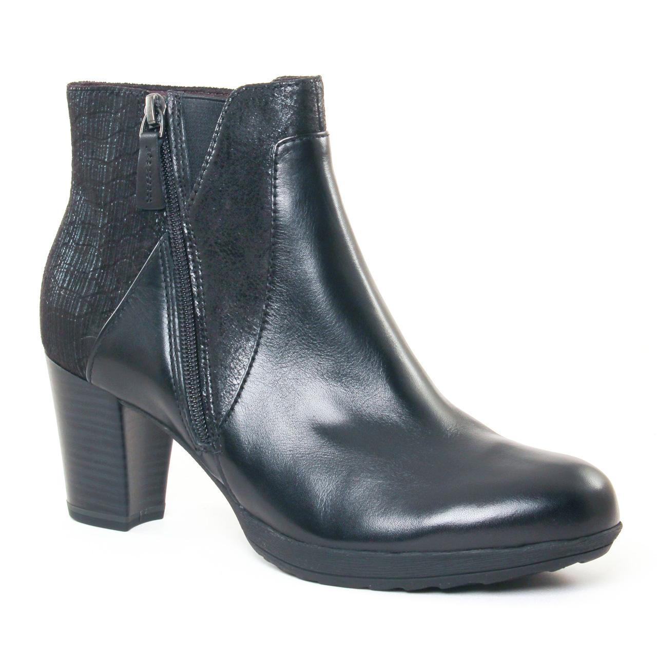 tamaris 25380 black boot talon noir automne hiver chez. Black Bedroom Furniture Sets. Home Design Ideas