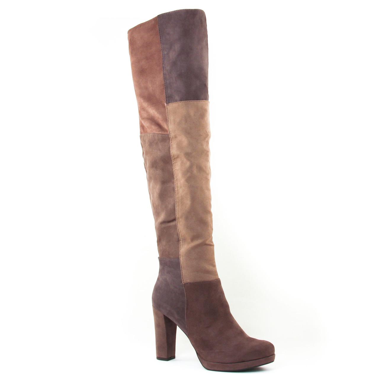 a19811ad83f1d bottes-cuissardes beige multi  même style de chaussures en ligne pour  femmes que les