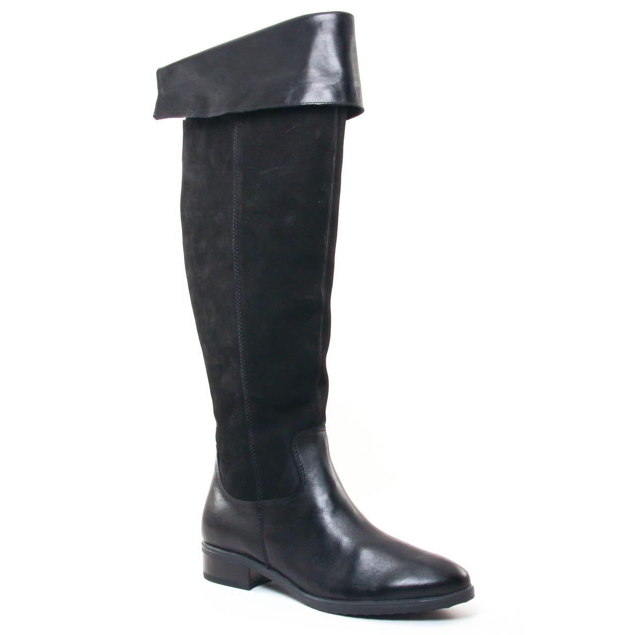 caprice 25601 black botte cuissardes noir automne hiver chez trois par 3. Black Bedroom Furniture Sets. Home Design Ideas