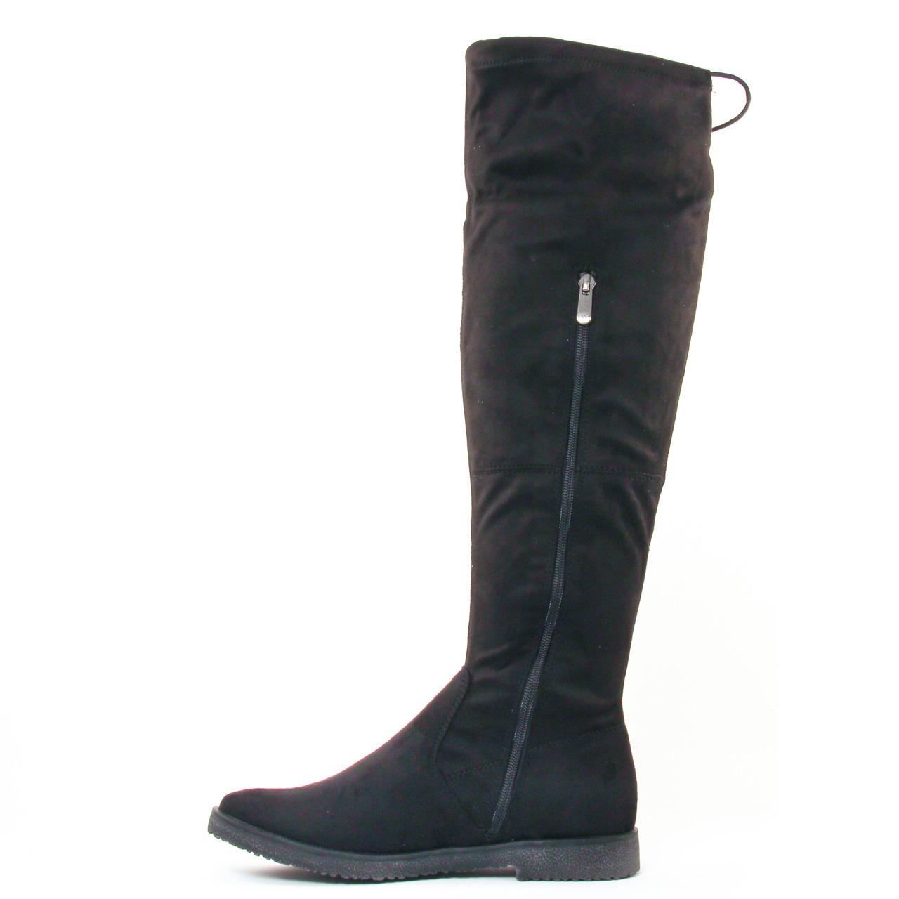 marco tozzi 25645 black botte cuissardes noir automne hiver chez trois par 3. Black Bedroom Furniture Sets. Home Design Ideas