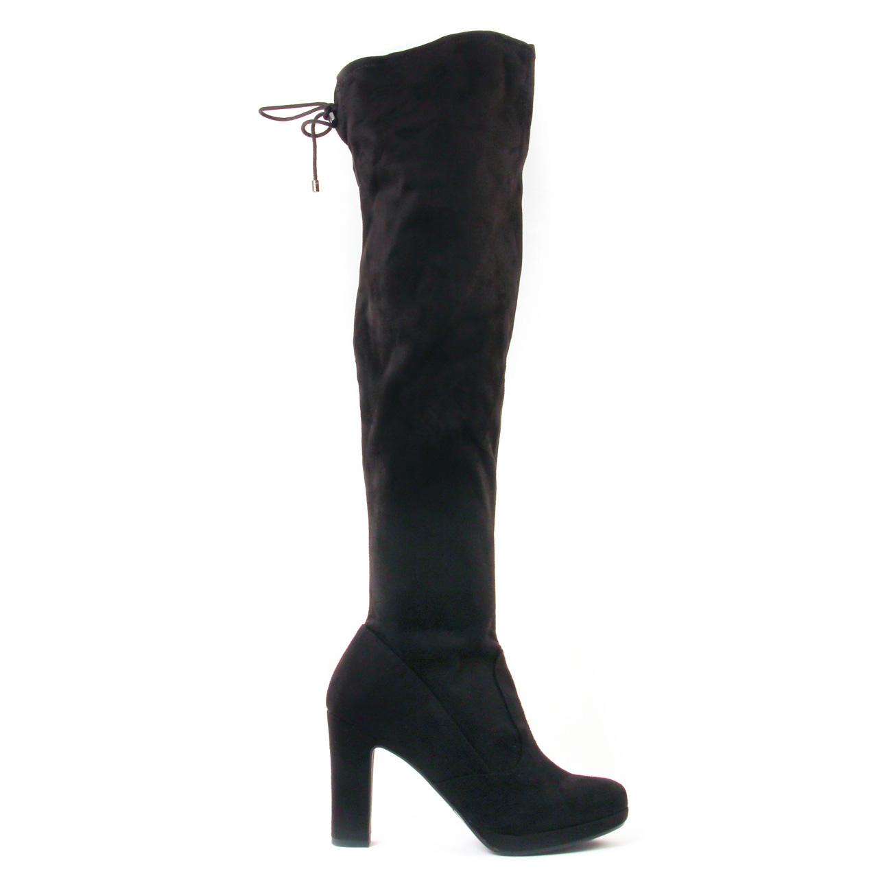 tamaris 25560 black botte cuissardes noir automne hiver chez trois par 3. Black Bedroom Furniture Sets. Home Design Ideas