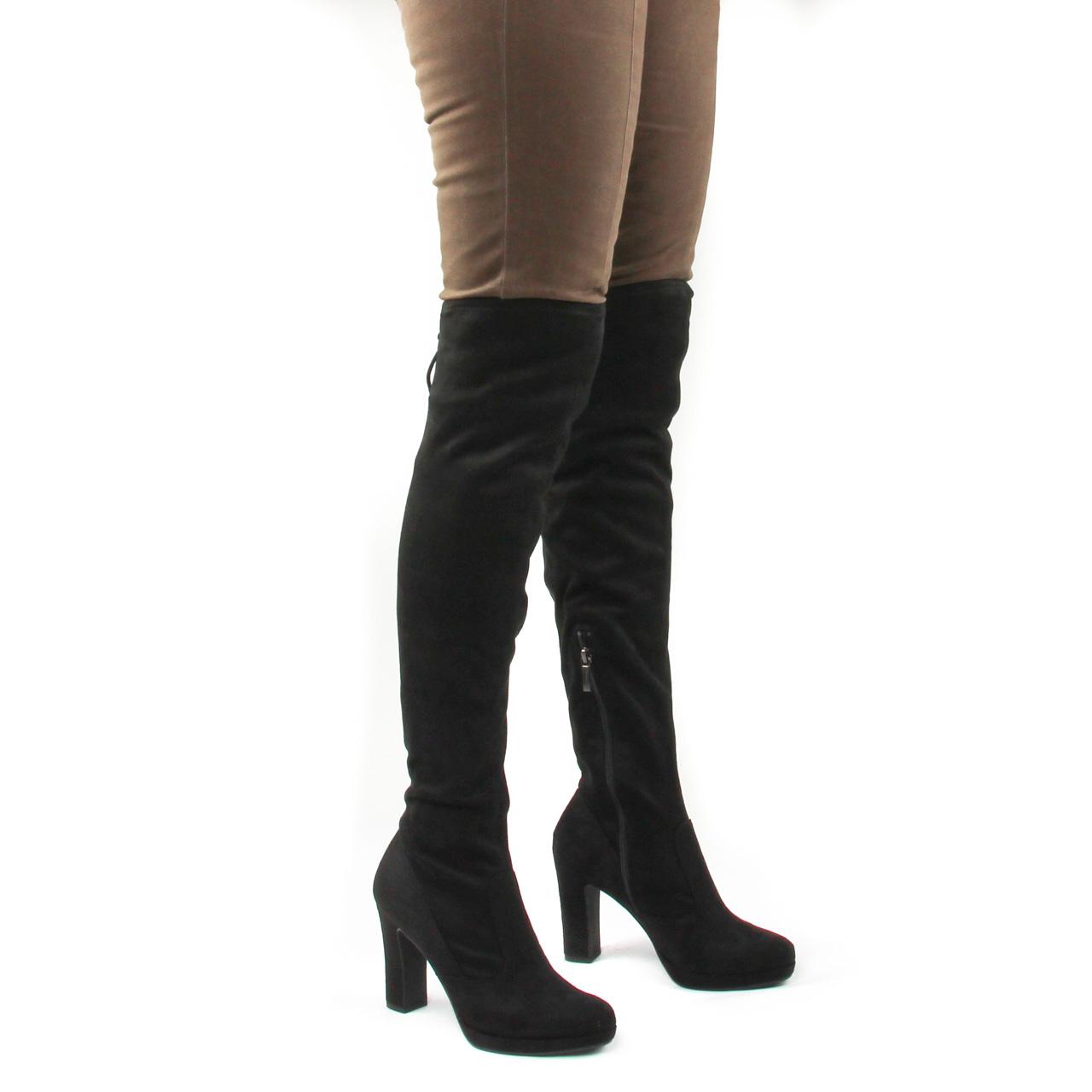 Tamaris 25560 Black | botte cuissardes noir automne hiver