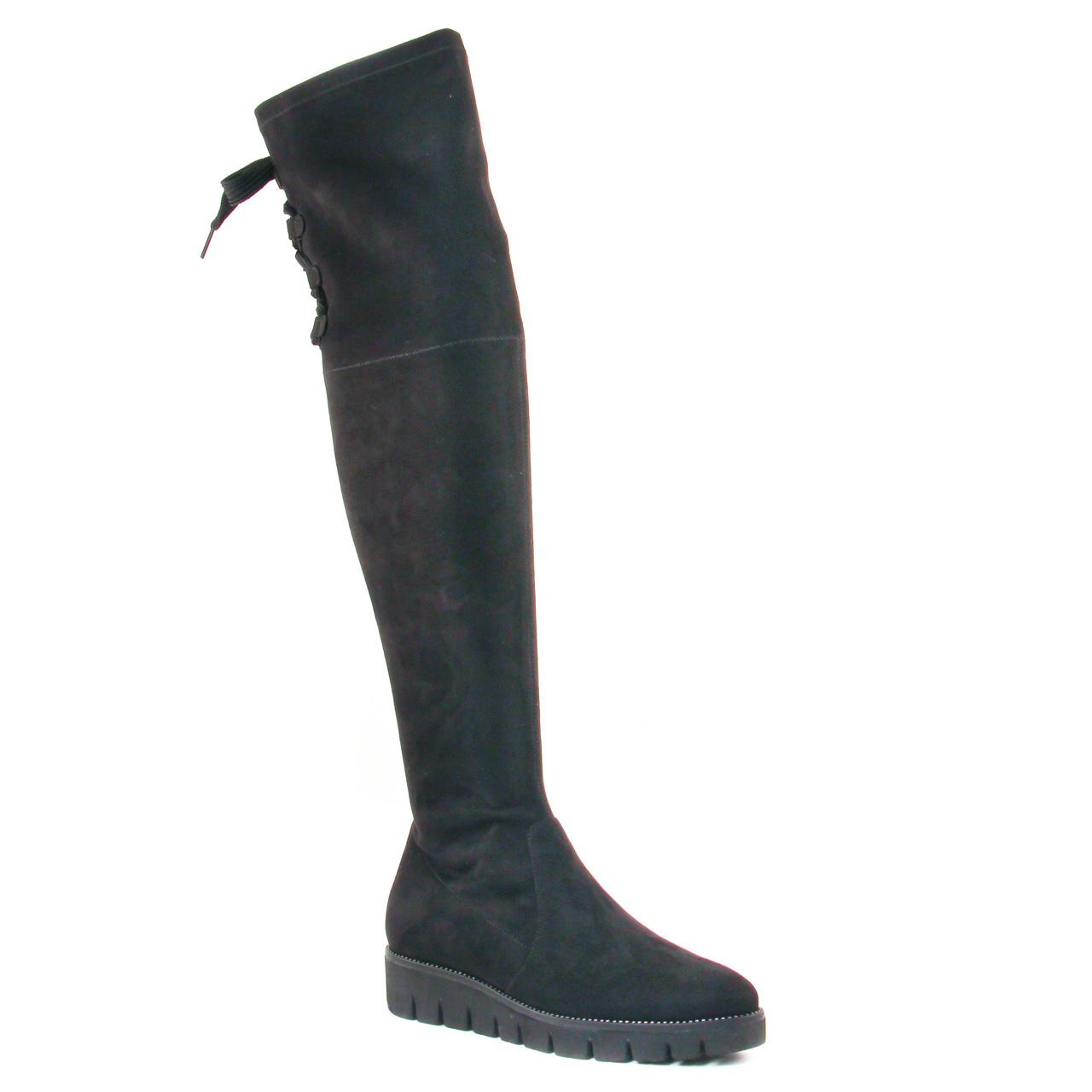 6ef260537fcf5 bottes-cuissardes noir  même style de chaussures en ligne pour femmes que  les Buffalo