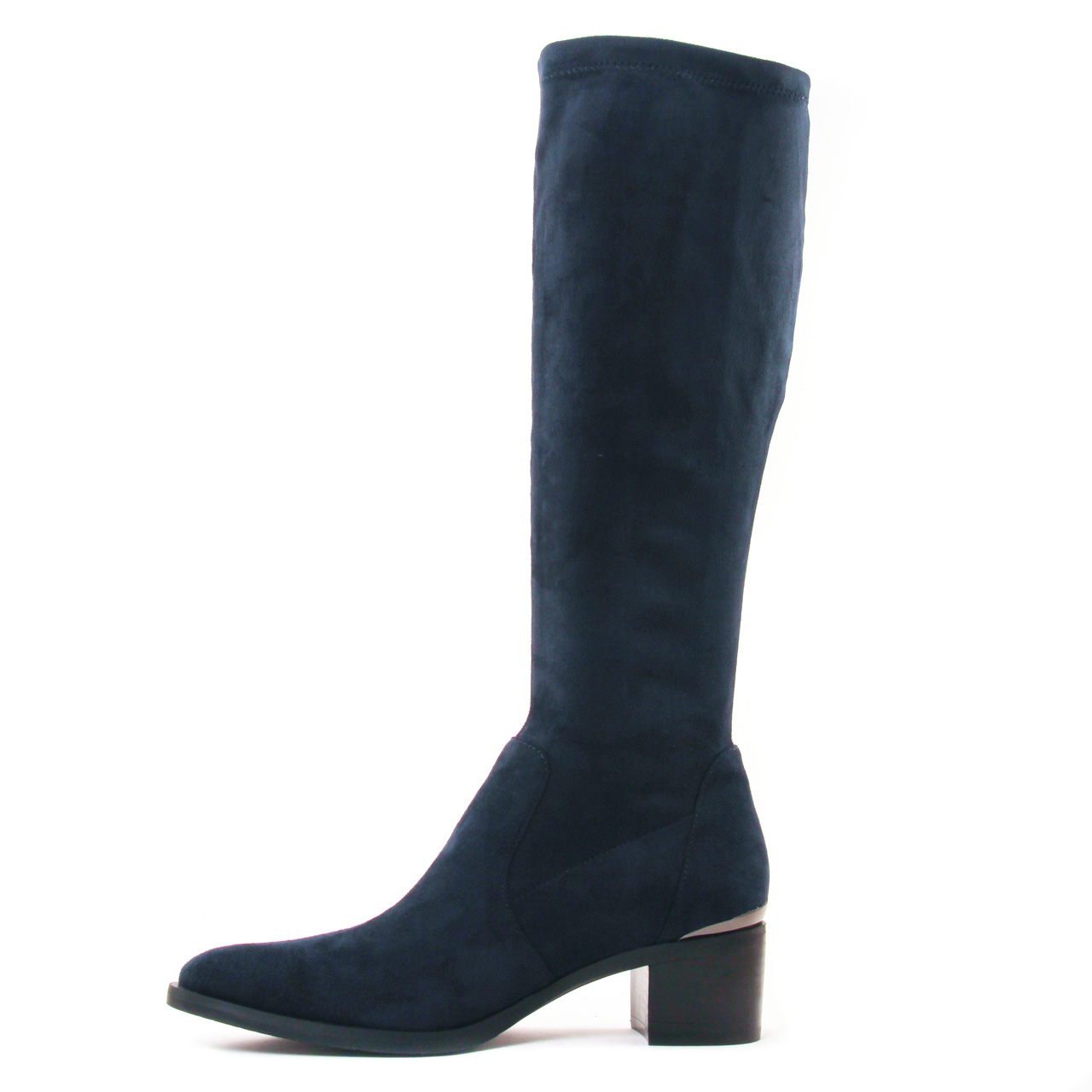 bottes stretch bleu marine mode femme automne hiver vue 3