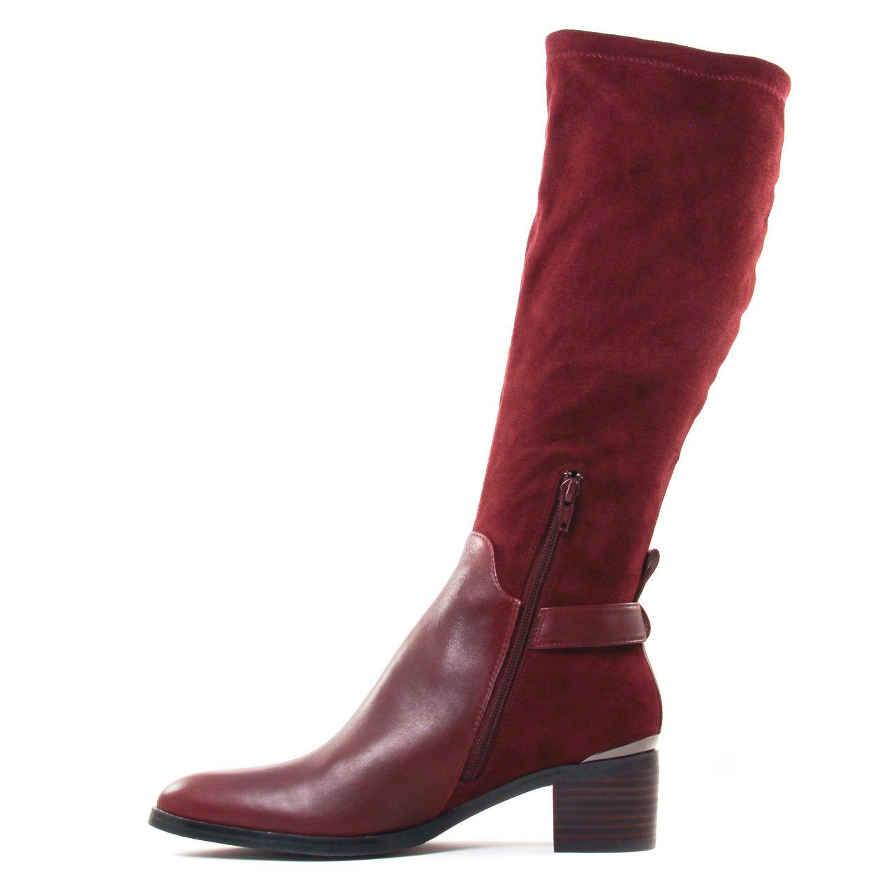 bottes femme couleur prune