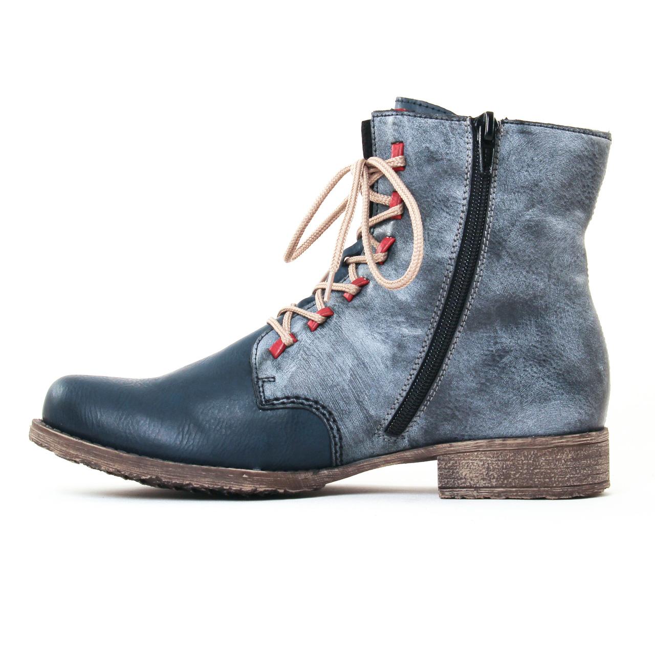 5f47b2630129f6 Rieker 70805 Gris Beige   bottine à lacets bleu gris automne hiver ...