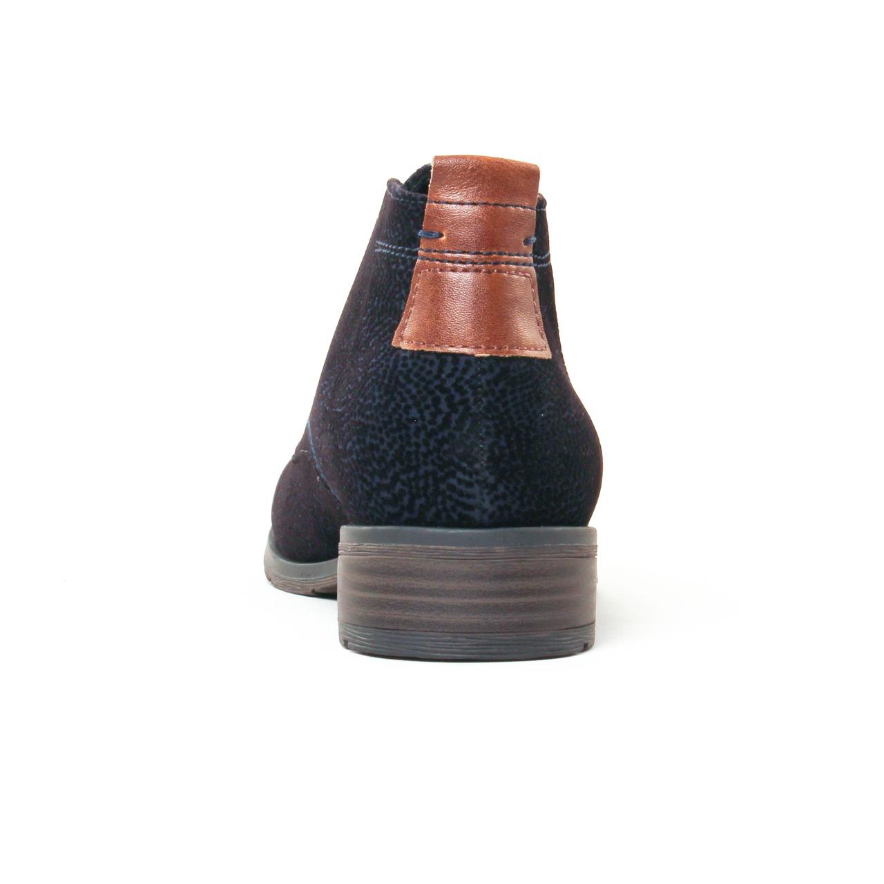 marco tozzi 25101 navy   bottine à lacets bleu marine automne