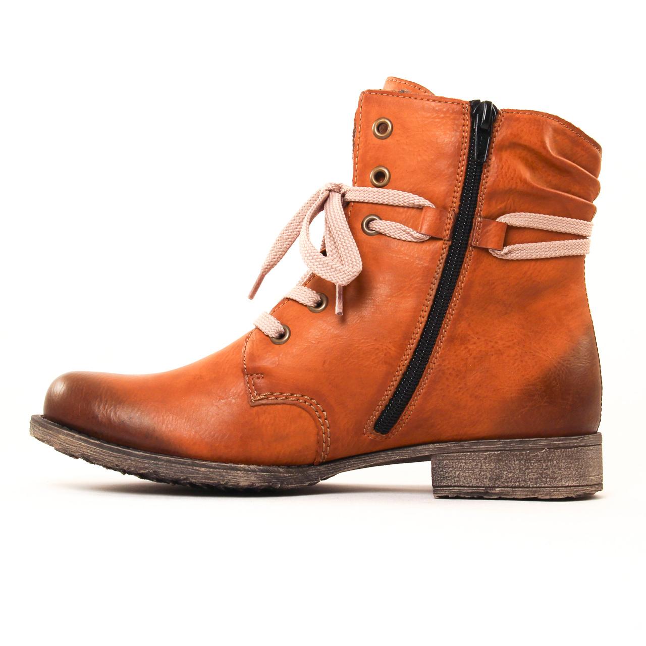 rieker 70829 marron | bottine à lacets marron automne hiver 2017