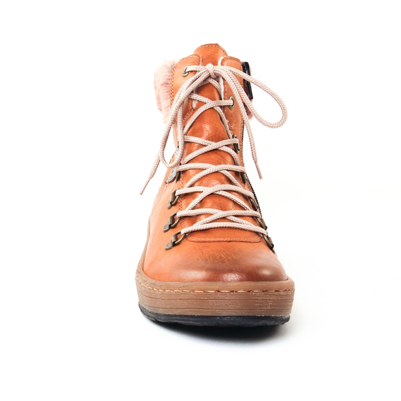 rieker z6743 marron | bottine à lacets marron automne hiver 2017