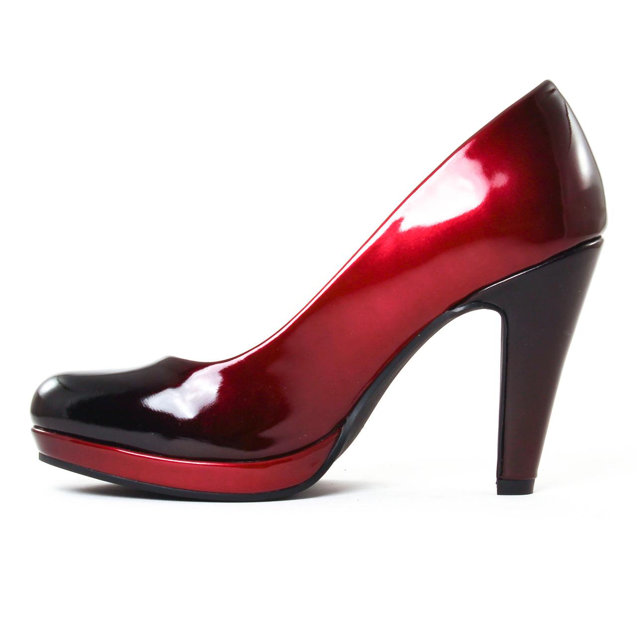 marco tozzi 22410 merlot escarpins rouge noir automne hiver chez trois par 3. Black Bedroom Furniture Sets. Home Design Ideas