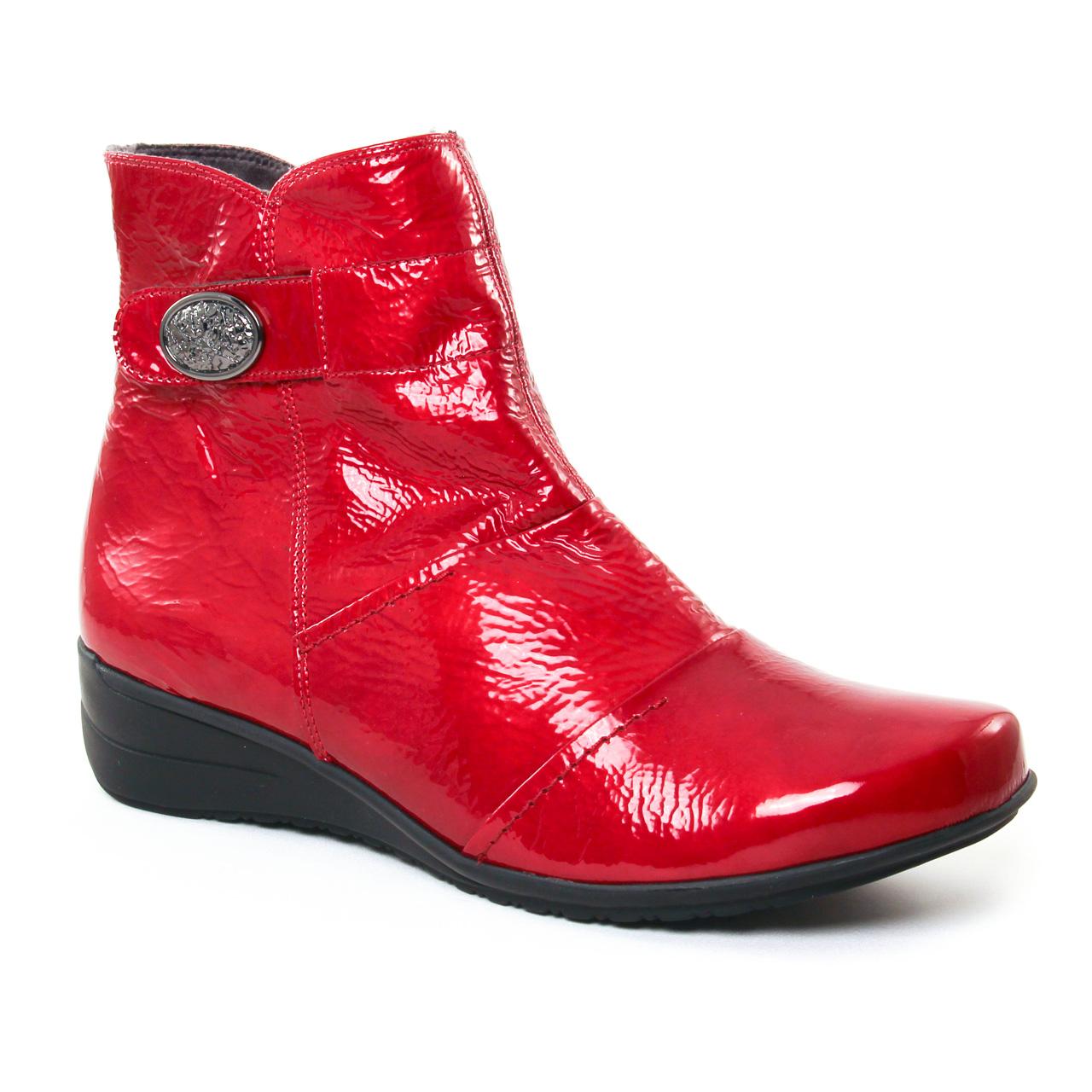 98d87a31a0de Geo Reino Estafora Vernis Hermes   boot confort rouge vernis automne ...