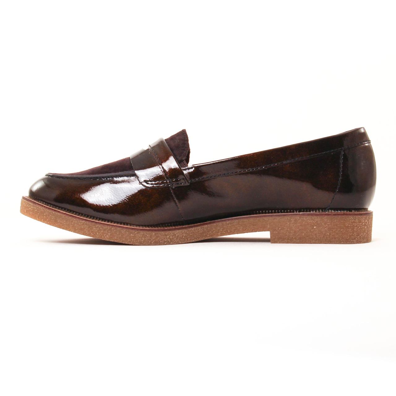 Tamaris 24205 Moka | mocassin confort marron automne hiver