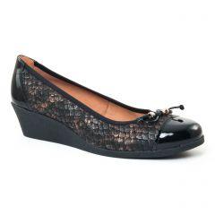 ballerines-confort noir doré: même style de chaussures en ligne pour femmes que les Caprice