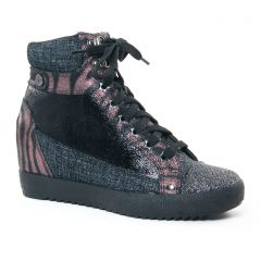 Chaussures femme hiver 2017 - baskets compensees Mamzelle noir