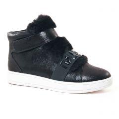 Chaussures femme hiver 2017 - baskets fourrées Buffalo noir