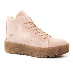 baskets-fourrees rose beige: même style de chaussures en ligne pour femmes que les Tamaris
