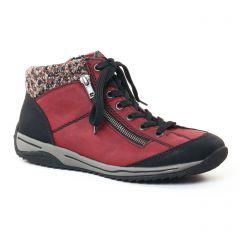 baskets-mode bordeaux: même style de chaussures en ligne pour femmes que les Rieker