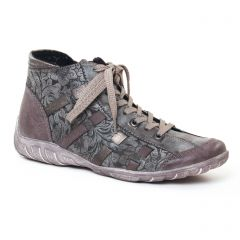 Chaussures femme hiver 2017 - baskets mode Remonte gris