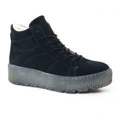 baskets-fourrees noir: même style de chaussures en ligne pour femmes que les Buffalo