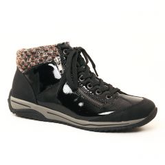 baskets-mode vernis noir: même style de chaussures en ligne pour femmes que les Rieker