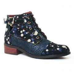 Chaussures femme hiver 2017 - bottines à lacets Laura Vita bleu