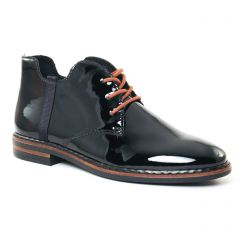 Chaussures femme hiver 2017 - bottines à lacets rieker noir