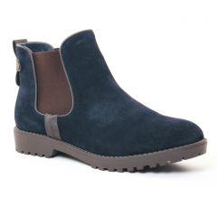boots-chelsea bleu marine: même style de chaussures en ligne pour femmes que les Impact