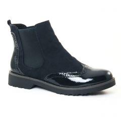 boots-chelsea bleu marine: même style de chaussures en ligne pour femmes que les Scarlatine