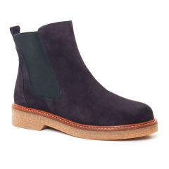 Chaussures femme hiver 2017 - boots élastiquées Maria Jaén bleu marine