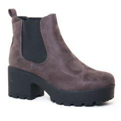 boots-chelsea gris: même style de chaussures en ligne pour femmes que les Coolway