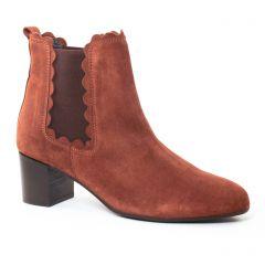 Chaussures femme hiver 2017 - boots élastiquées Impact marron