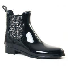 Chaussures femme hiver 2017 - boots élastiquées Lemon Jelly noir gris argent