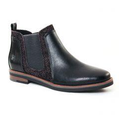 Chaussures femme hiver 2017 - boots élastiquées marco tozzi noir