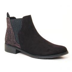 Chaussures femme hiver 2017 - boots élastiquées marco tozzi noir taupe