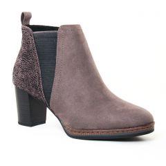 boots gris noir: même style de chaussures en ligne pour femmes que les Marco Tozzi