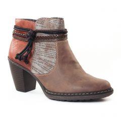 boots marron beige: même style de chaussures en ligne pour femmes que les Rieker