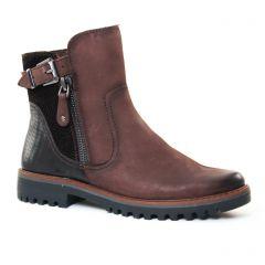 boots marron: même style de chaussures en ligne pour femmes que les Marco Tozzi