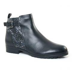 Chaussures femme hiver 2017 - boots confort Caprice noir argent