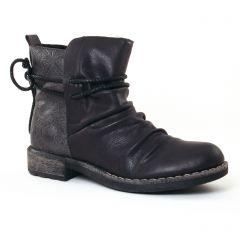 boots noir gris: même style de chaussures en ligne pour femmes que les Rieker